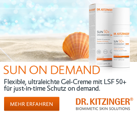 DR. KITZINGER® - SUN ON DEMAND - Flexible, ultraleichte Gel-Creme mit LSF 50+ für just-in-time Schutz on demand.